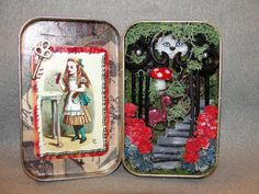 Altered Altoids Tin Shadow Box Entering Wonderland