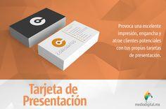 Bien dicen por ahí que la primera impresión es la que cuenta, refuerzala entregando #TarjetasDePresentación. www.mediodigital.mx