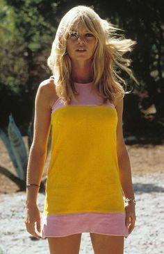 Bridgett Bardot in a shift dress