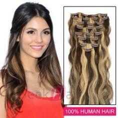 16 Inch Body Wavy Clip In Remy Human Hair Extensions ( Best Human Hair Extensions, Hair Extensions For Sale, Lightening Dark Hair, 100 Human Hair, Dreadlocks, Hair Styles, Beauty, Accessories, Hair Plait Styles