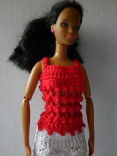 Crochet Barbie Top Free Pattern http://www.rebeckahstreasures.com/1/post/2013/05/crochet-barbie-top-pattern.html