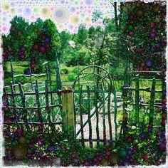 Ash Creek Pottery Garden by Michelle LaRiviere #phoneography #ipadart #percolatorapp #digitalart #photobasedart #hipstamatic #garden