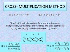 Cross Multiplication Method For Solving Equations - A Plus Topper Maths Formula Book, 10th Grade Math Worksheets, Math Formulas, Solving Equations, Multiplication, Mathematics, Teaching, Math, Maths Formulas