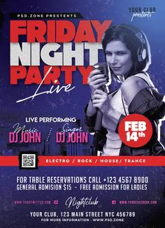 Download the Free Friday Night Club Party Flyer Template!