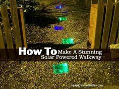 Solar powered walkway. Great idea