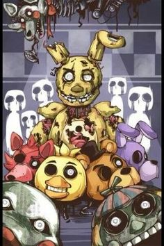 Five Night At Freddy's 3- BB's face doh its like hey der im gonna getchya!