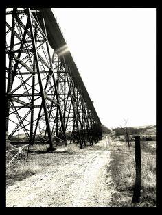 Rail Road bridge near Minot ND