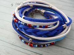 4th of July bracelet,Memorial Day bracelet, Flag Day bracelet, patriotic bracelet, Fashion Bracelet,double wrap bracelet blue red white by SilkHandsJW on Etsy https://www.etsy.com/listing/232333719/4th-of-july-braceletmemorial-day