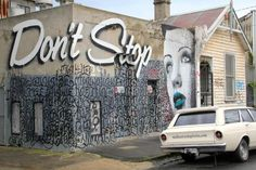 rone-street-art-dont-stop - Street Art by Rone  <3 <3