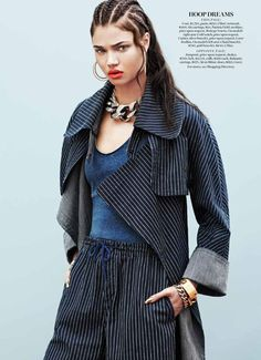 Urban Denim Editorials - The Marie Claire US 'Jean Streets' Photoshoot Stars Daniela Braga (GALLERY)