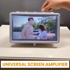 The holidays are finally here and there's nothing better to do than enjoy movies with the family. Whether you like TV shows or movies or just streaming online videos, this Universal Screen Amplifier will instantly boost your viewing experience! Phone Projector, Love Your Enemies, All Smartphones, Light Reflection, Hacks Videos, Diy Desk, Cyber Monday, Cool Stuff, Decoration