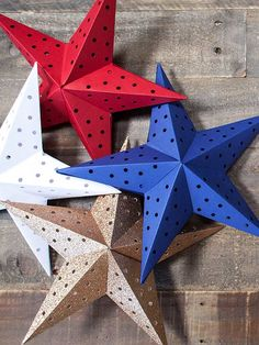 Get your red, white, and blue on this summer with DIY paper stars. These 3D lights from Lia Griffith one-up sparklers any day. Use a mix of plain and glittery cardstock for extra sparkle.