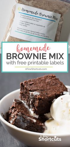 Hungry? You need this Homemade Brownie Mix Recipe in your life. Don't waste your time with store bought mixes. This is the best!