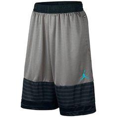 3ee76ed778be53 ... Nike Jordan X 10 Retro Grey Dri-Fit Basketball Shorts 642596-003 Mens  Size ...
