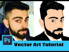 AwesomeVector Art Effect - Photoshop Tutorial [In Hindi/Urdu] Photoshop Tutorial, Art Tutorials, Vector Art, Ps, Facebook, Youtube, Design, Youtubers