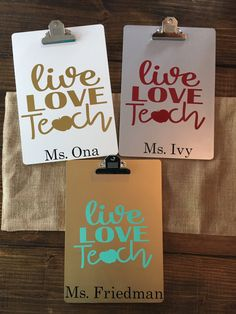 Monogrammed Clipboards, Personalized clipboards, Teacher Clipboards, Cute…
