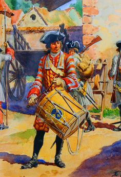 French infantry drummer during the reign of King Louis XV