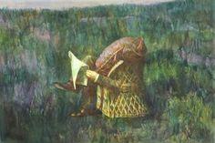 Guillermo Roux. Lector a orillas del Paraná 1986 acuarela  34.5 x  50.5 cm. Ingresó al Museo Castagnino en 1984. Donación Fundación Juan B Castagnino. #Arte #Argentina