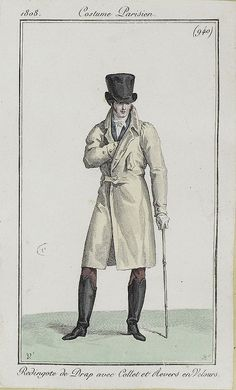 A stylish and timeless coat. Costume parisien, 1808