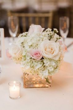 Romantic wedding centerpiece / http://www.himisspuff.com/rustic-wedding-centerpiece-ideas/4/