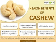 Health benefits of cashews include healthy heart, strong nerve and muscle function, improved bone and oral health, relief from diabetes, anemia and gallstones. By offering antioxidant defenses, it also aids in formation of red blood cells and encourages better immune system. Cashews the super nut, belong to the family of Anacardiaceae which also includes mango and pistachio and are originally native to the coastal areas of northeastern Brazil. They are kidney shaped seeds and widely…