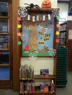 Our Fall/Halloween theme display area @ Alamitos library!