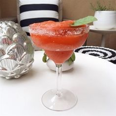 """Strawberry Basil Margarita   """"Perfect! I served this to a large group of ladies, and the comments were """"Refreshing!"""", """"So nicely balanced!"""", """"Please send us the recipe!"""""""
