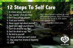 12 steps to self care. www.sofiaofsweden.com
