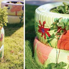 Bioguia - llantas viejas para plantas.