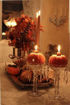 Pumpkins & candles