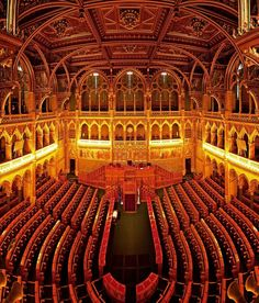 Interior of the Hungarian Parliament. Look for a guided tour! #Budapest, #Hungary