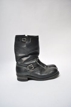 Hey, I found this really awesome Etsy listing at https://www.etsy.com/listing/173143480/vintage-leather-engineer-boots-work