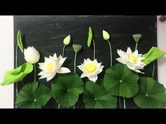 Paper Ribbon, Ribbon Crafts, Paper Crafts, Diy Flowers, Paper Flowers, Lotus Flowers, Paper Video, Ganapati Decoration, Paper Succulents