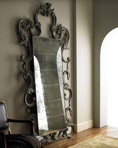 gothic antiqued mirror