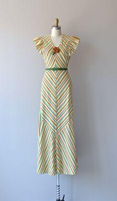 Best Coast dress vintage 1930s dress cotton striped by DearGolden