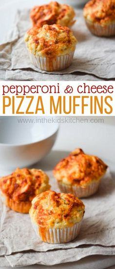 Eat pizza anytime anywhere with mess-free Pepperoni & Cheese Pizza Muffins! A fun recipe to make with kids as a snack, appetizer, dinner, party food & more!