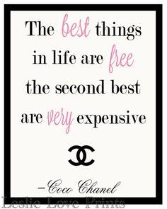 Las mejores cosas de la vida son gratis... por LeslieLovePrints