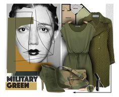 """""""military  green"""" by sandevapetq ❤ liked on Polyvore featuring Dansk, Issey Miyake, Yves Saint Laurent, Gianvito Rossi, Bobbi Brown Cosmetics and Pomellato"""