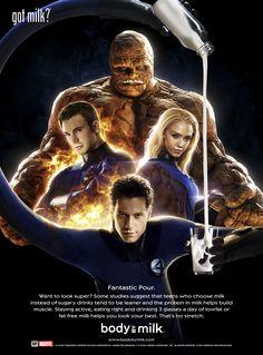 Fantastic Four Silver Surfer Movie, Got Milk Ads, Michael Chiklis, Wolverine Movie, Lab, Superhero Family, Human Torch, Marvel, Fantastic Four