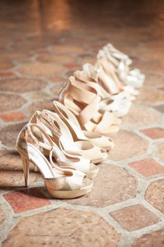 Nude shoes for the bride & bridesmaids