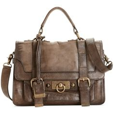 Take an artisan approach to accessorizing with this vintage-inspired satchel from Frye. Featuring rich, antiqued leather and custom hardware, it pairs perfectl…