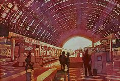 Dawn at the Station  by Jenny Armitage