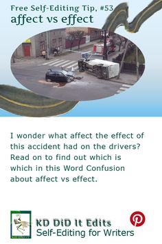 A Word Confusion post for self-editing writers and what effects the affect of…