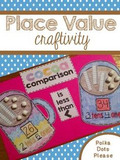 Comparing numbers is an important math skill. This craftivity allows learners to practice identifying tens and ones and comparing two numbers. All of the pieces needed for this craftivity are included, but you can make this project even more fun by using mini marshmallows as ones!This activity is sure to be a classroom favorite and it makes the perfect winter display.