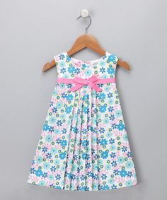 Take a look at this Turquoise Floral Dress - Toddler by Blow-Out on #zulily today! #fall