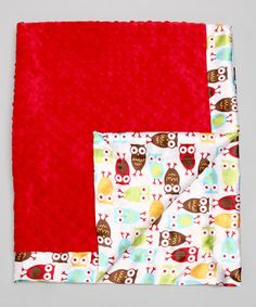 Take a look at this Red Night Owl Minky Stroller Blanket by Bebe Bella Designs on #zulily today!