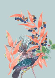Pattern Fashion, Fashion Prints, Textile Design, Rooster, Pattern Design, Digital, Flowers, Plants, Painting