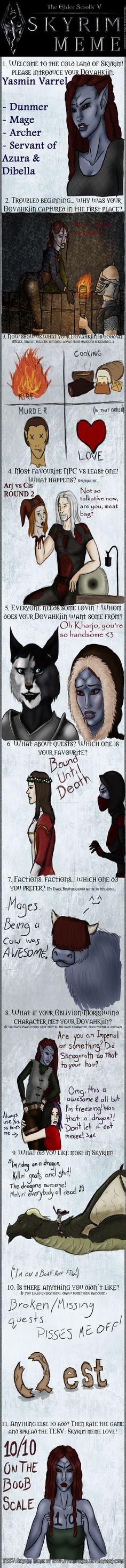 Skyrim Meme by RavenJeanGrey on DeviantArt