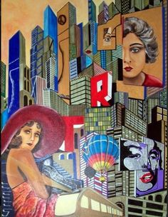 """"""" New York and more .."""" Acryl + Softpastel  70 x 100 cm"""