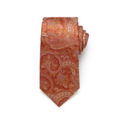 Fine Paisley Tie - Pumpkin